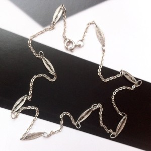 Collier 8 filigranes en argent